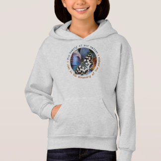Butterfly collage: beautiful diversity hoodie