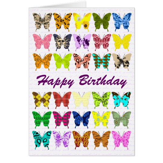 Butterfly Collage Birthday Card