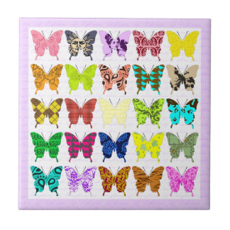 Butterfly Collage Ceramic Tile