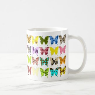 Butterfly Collage Coffee Mugs