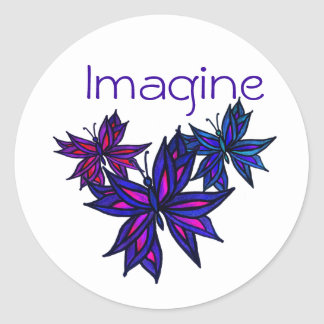 Butterfly Collage Imagine Sticker