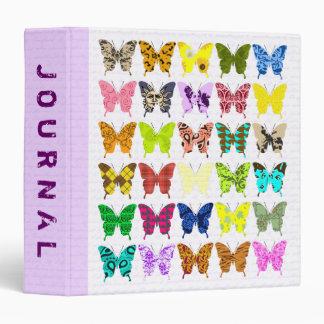 Butterfly Collage Journal Vinyl Binder