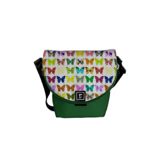 Butterfly Collage Messenger Bag