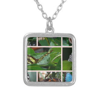 Butterfly Collage Necklaces