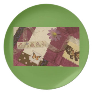 Butterfly Collage Plate