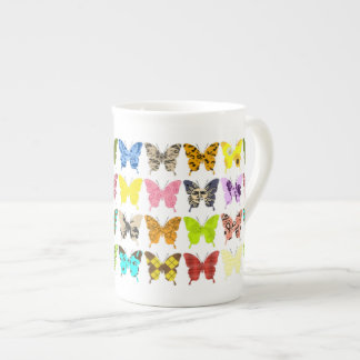 Butterfly Collage Tea Cup