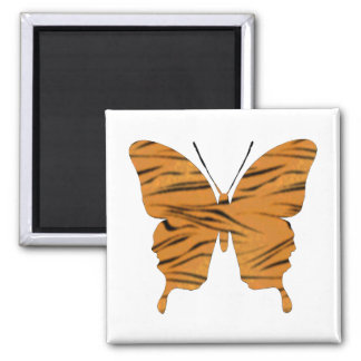 Butterfly Collage Tiger Stripes Magnet