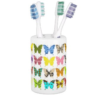 Butterfly Collage Toothbrush Holder