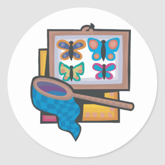Butterfly Collecting Classic Round Sticker