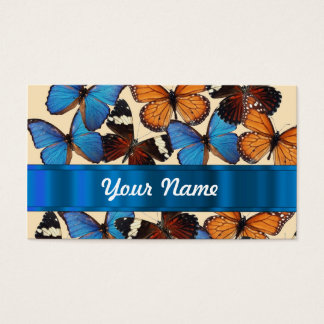 Butterfly collection business card