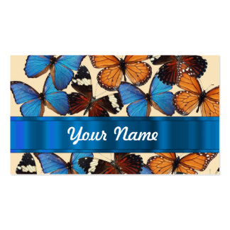 Butterfly collection business card template