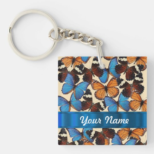 Butterfly collection keychain