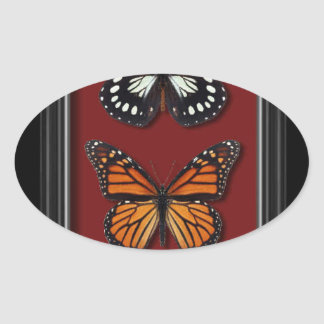 Butterfly collection oval sticker