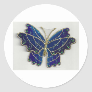 butterfly collection series id 10037 classic round sticker