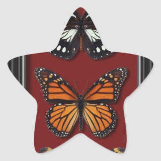 Butterfly collection star sticker