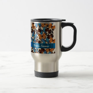 Butterfly collection travel mug