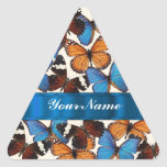 Butterfly collection triangle sticker