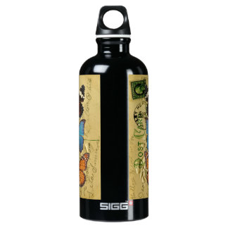 Butterfly collection water bottle