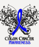 Butterfly Colon Cancer Awareness Tshirt