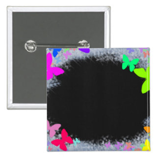 Butterfly-colored-ice-frame1416 NEON BUTTERFLIES Pinback Button
