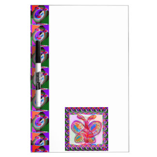 BUTTERFLY Colorful Sketch Art Dry-Erase Board