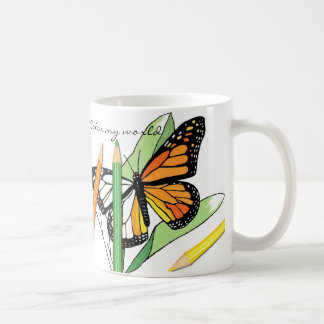 Butterfly coloring coffee mug