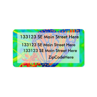 Butterfly colorized pretty photograph graphic address label