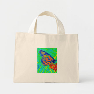Butterfly colorized pretty photograph graphic mini tote bag