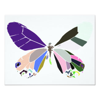 butterfly colors 4.25x5.5 paper invitation card