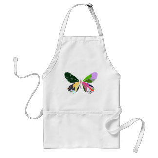 butterfly colors adult apron