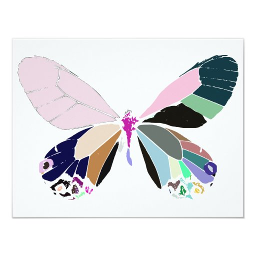 butterfly colors card