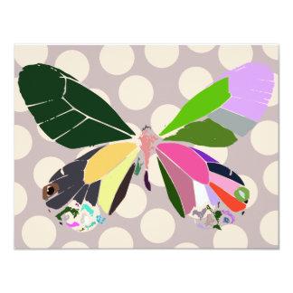 butterfly colors dottie version 4.25x5.5 paper invitation card