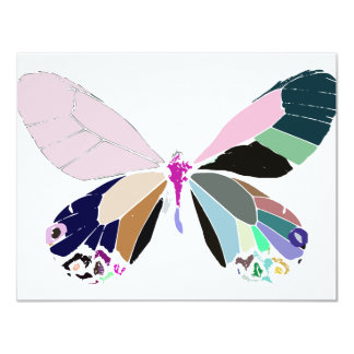 butterfly colors invitations