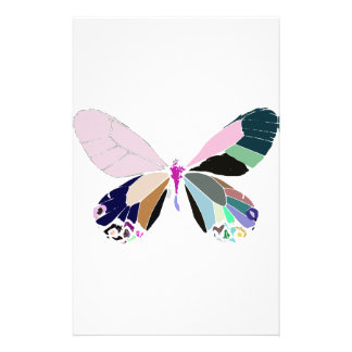 butterfly colors stationery