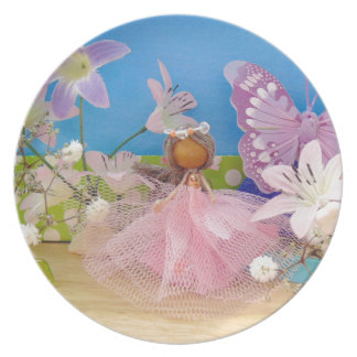 butterfly comes to call.jpg dinner plate
