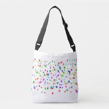 Beach Themed Butterfly Confetti Crossbody Bag