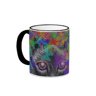 butterfly confetti siamese cat pointillism mug