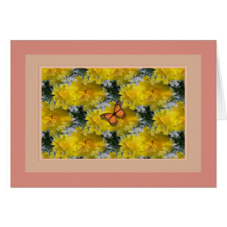 Butterfly ~Coreopsis Flowers Card