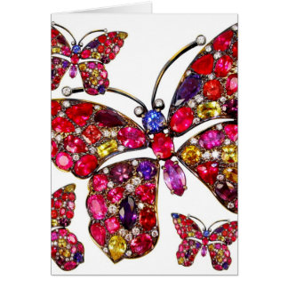 Butterfly Costume Jewelry Any Occasion Blank Note Cards