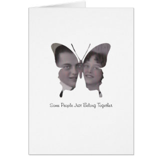 Butterfly Couple Custom Photo Anniversary Love Greeting Cards
