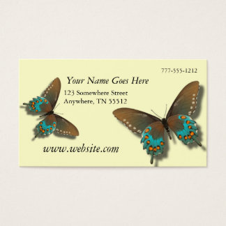 Butterfly Cream Business Cards