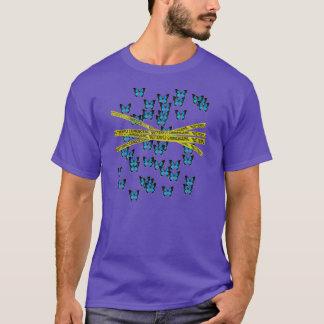 butterfly crime scene T-Shirt