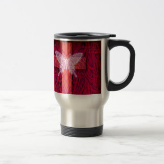 Butterfly cross travel mug