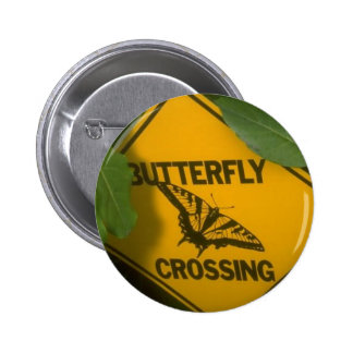 Butterfly Crossing 2 Inch Round Button