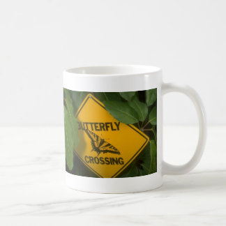 Butterfly Crossing Classic White Coffee Mug