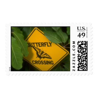 Butterfly Crossing Postage Stamps