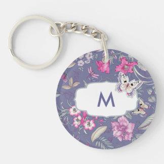 Butterfly Custom Monogram Gift Keychains
