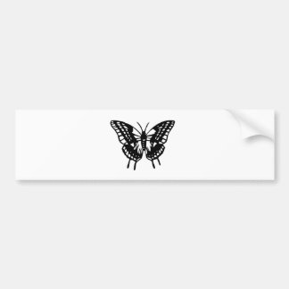 Butterfly cutting picture butterfly bumper sticker