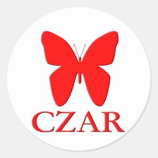 Butterfly Czar Classic Round Sticker