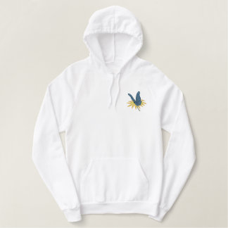 Butterfly Daisies Embroidered Hoodie